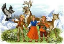 Кай Герда олень ворон и разбойница