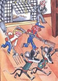 Гарантийные человечки прогоняют мышинных солдат