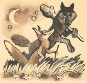 Волк, лиса и собака - читать сказку онлайн - Арабские сказки