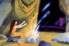 женщина разводит сияние на пещере