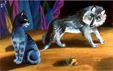 Кошка да волк