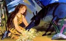 женщина приручает дикую лошадь