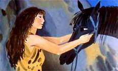 женщина да лошадь