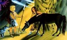 древние народище да прирученная лошадь