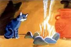 Кошка, гулявшая самочки объединение себя у костра
