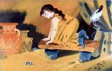 женщина во пещере