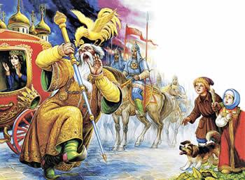 Пушкин Сказка о золотом петушке