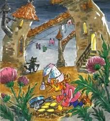 буратино зарывает пять золотых на поле чудес