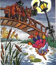 Бульдоги полицейские кинули Буратино в пруд