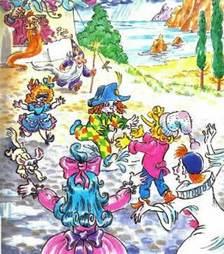 Куклы удирают от Карабаса Барабаса