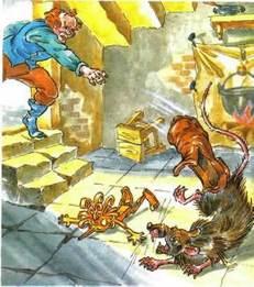 Карло запустил ботинком в крысу шушару