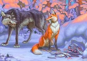 Лиса И Волк Картинки К Сказке