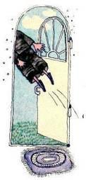 Винтик вылетает в дверной проем