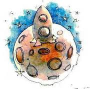 Лунная поверхность ракета