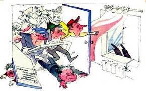 недовольные акционеры ворвались выбив дверь