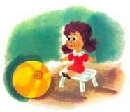 девочка с мячиком