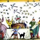 стих Птицы в пироге Читать Самуила Маршака