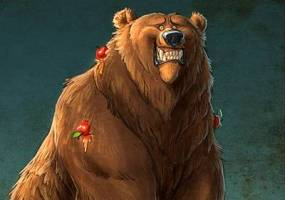 Медведь и бревно