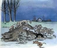 Дядя Миша медведь атакован собаками вцепились в шкуру