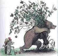 Дядя Миша медведь вырвал орешник еж