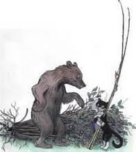Дядя Миша медведь и кот рыболов на рыбалку