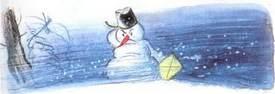 Ёлка опечалился снеговик