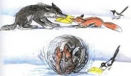 Ёлка волк и лиса драка за письмо деду морозу