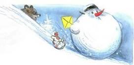 Ёлка кдеду морозу списьмом снеговик