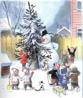 Ёлка  снеговик принеселку детям