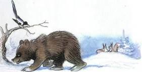Ёлка медведь  ушел спать в берлогу