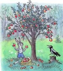 яблоня заяц и ворона мешок яблок