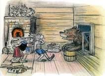 заяц зайчата зайчиха медведь с бочкой в окне