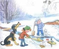 Рассказ Как зима кончилась Владимира Сутеева читать