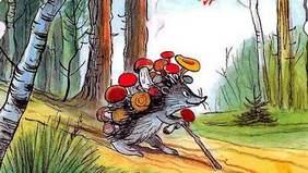 еж и Живые грибы