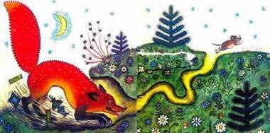 Лис и мышонок читать сказку