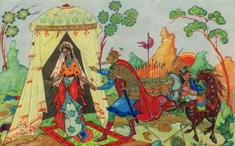 Сказка о мёртвой царевне и о семи богатырях читать с картинками
