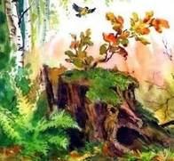 Сказка Пень писателя Валентина Катаева