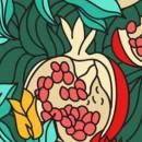 Гранатовое дерево, яблоня и терновник