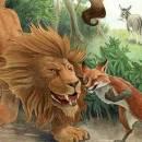 Лев, осел и лисица