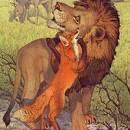 Осел, лисица и лев