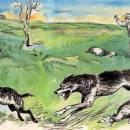 Пастух и волчата