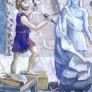 Продавец статуй