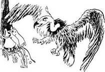 Муми-тролль Снифф и Снусмумрик в горах - Кондор повис над ними