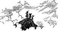 Муми-тролль Снифф и Снусмумрик на вершине горы