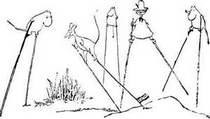 Муми-тролль Снусмумрик фрёкен Снорк и Снифф идут  на ходулях