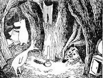 спрятались в пещере  Снифф ондатр Муми-мама