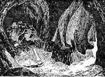 в пещере комета прилетела