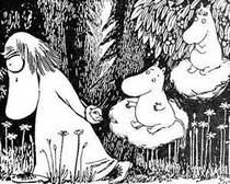Муми-тролль и фрекен Снорк преследуют Хемуля