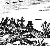Муми-тролль и его друзья на берегу