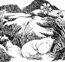 Муми-мама прилегла у скалы с подветренной стороны